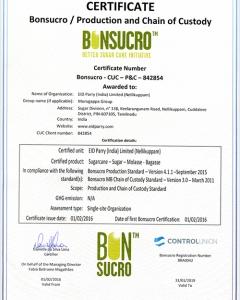 Bonsucro Certificate